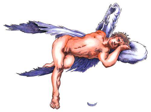 RAS+2005+Klinger Angel (Das Urnicht)+Pen, ink & color pencil+
